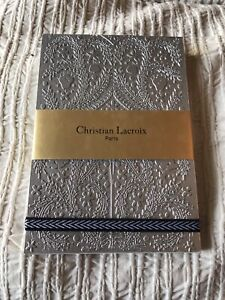 Christian Lacroix Paseo Embossed Silver Notepad with Elastic, 3.5 by 5.5-inches,
