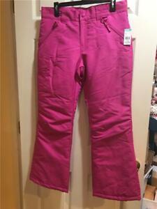 Sears Pink~ pull on zipper ski snow Pants~  Girls  ~ 14/16 NWT
