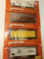 Konvolut 4 Primex Eisenbahn Güterwagen 4547 4557 4558 4597 Spur H0 OVP