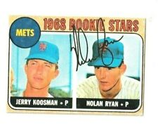1968 Topps Nolan Ryan rookie reprint with Gold Signature