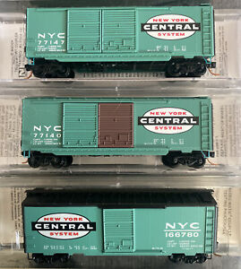 n scale kadee MTL Micro Trains new york central NYC 40' box car runner pack 3RD#