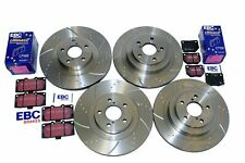 for Impreza WRX Brake Discs Pads Front Rear Dimpled Grooved Discs and EBC Pads