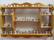 Vtg Pine Wood Display Shelf Thimble Rack  Holder Display Knick Nack Holder