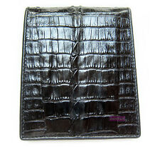 BLACK CROCODILE TAIL SKIN LEATHER MEN'S BIFOLD BEAUTIFUL WALLET