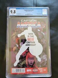 Captain America 25 CGC 9.8 Sam Wilson becomes the new captain America