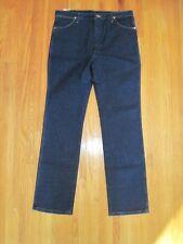 """Men's Wrangler 5 Pocket Regular Slim Fit Straight Leg Jeans 38"""" X 34"""" Blue NWT"""