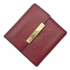 Authentic Cartier Love Collection Trifold Purse Wallet Red Leather #k160128