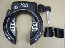 Rahmenbefestigung silber AXA Defender RL Ringschl schwarz  Klappschlüssel