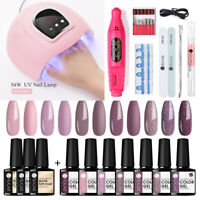 UR SUGAR UV Gel Polish Nail Dryer Lamp Top Coat Nail Art Drill File Starter Kit
