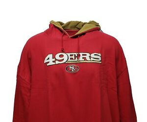 San Francisco 49ers Red Men's NFL Majestic Pullover Stitched Logo Hoodie