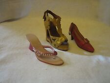 Miniature Plastic Resin Decorative Fashion High Heels Shoes Set of Three