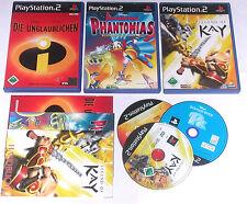 3 Spitzen KINDER Spiele für Playstation 2 z.B. DONALD DUCK; UNGLAUBLICHEN, KAY