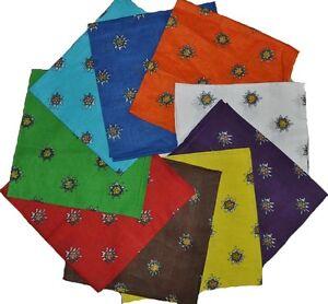 Trachtentuch Halstuch Tachtenschal Mit Edelweiß 100% Baumwolle-AP01