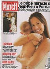 paris match n°2816 pernaut tony blair queen mary 2 cruz