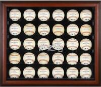 Atlanta Braves Logo Mahogany Framed 30-Ball Display Case - Fanatics