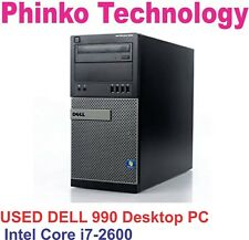 Dell 990 Desktop PC intel i7-2600 4GB Ram 1TB HDD DVDRW Windows 7 PRO