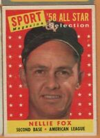 1958 Topps Baseball - #479 Nellie Fox All Star - Chicago White Sox - ex+ cond