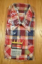 Vintage Cranbrook Men's Shirt Plaid Flannel 17 Xl 17 1/2 Nwt Red Blue White jj
