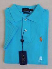 $89 Women Polo Ralph Lauren Blue Label Equestrian Skinny Pony Mesh Slim Shirt L