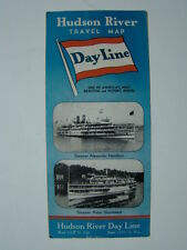 Dayline Hudson River Travel Map Brochure Steamer Alexander Hamilton 1938