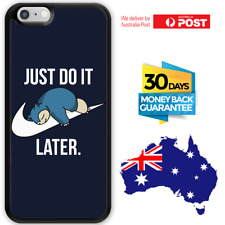 iPhone 8 7 6 6s SE Plus Rubber Case Snorlax Just Do It Later For Girls Apple