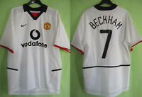 Maillot Manchester United Beckham Champions league 2002 Vodafone Jersey Nike - M