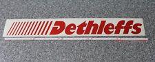 1 x Dethleffs Wohnwagen Wohnmobil Aufkleber in rot 100 cm lang