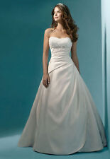 Satin wedding dresses ebay a line junglespirit Image collections