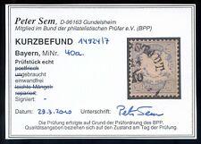 =Bayern Mi.Nr.40 a gestempelt Befund Sem BPP - 100 M€ - Luxus!=