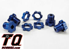 NEW Traxxas 5353X Anodized 17mm Splined Wheel Hex Hubs Blue (4) Ships wTrack#