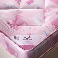 Happy Beds Mattress 3ft Single Open Spring Childrens Kids Girls Pink Bedroom