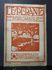 Esperanto fascicolo januaro 1922