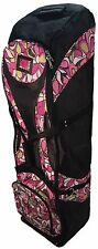 Birdie Babe Pink Flowered Womens Golf Bag Travel Cover Ladies New