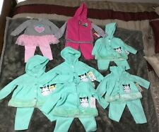 Infant Baby Girl Clothing Lot 7 Sets  Fall/Winter 15 Pieces NWT Assorted Sizes