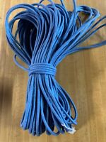 """1//4/"""" x 200 ft of Cotton Blend Rope Blue Denim And White Made In USA"""