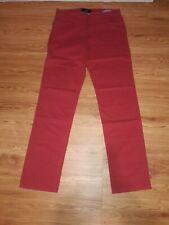 New Brax Cooper Fancy Pants Marathon Cotton Blend Stretch Red  35x36