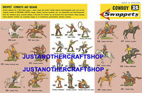 Britains Swoppets Cowboys 1960's A3 Poster Advert Shop Display Sign Leaflet
