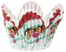 Santa Christmas Mini Petal Baking Cups 48 ct from Wilton #2622 - NEW