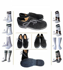 German Bavarian Oktoberfest Trachten Men Lederhosen Leather Shoes Package Set A3
