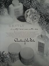 1941 Charles Of The Ritz Gently Sensitive Skin Lotion Bottle Flower Print Ad