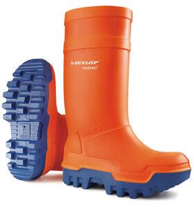 Dunlop Purofort + Full Safety /Thermo Orange Wellies - Size 9UK (42EU)