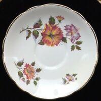 Royal Ascot Vintage Rare Pattern Saucer Genuine Bone China Made In England