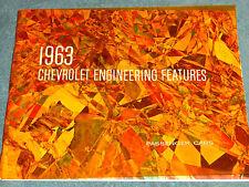 1963 CHEVROLET / CORVETTE / CHEVY II / CORVAIR ENGINEERING FEATURES ALBUM ORIG.!