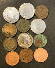 Vintage United States Coin Lot - 1895-1937 - 12 Vintage Coins - Lot #J25