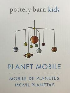 Pottery Barn Kids Baby Nursery Crib Space Planetary Planet Ceiling Mobile #3021