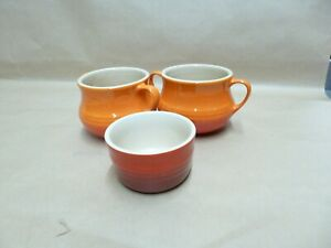 Le Creuset Soup Bowls And Small Dish,