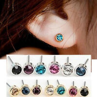 12Pcs X Crystal Earring Stud Wholesale Pack Mixed Color Lot Nickel Free