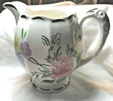 Blue Ridge Southern Potteries Grace Floral Pitcher Hand Painted Vintage