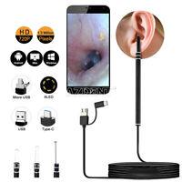 3 in 1 Digital LED Otoscope Ear Camera Scope Earwax Removal Kit For MAC