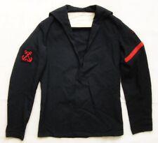 Vintage 1972 Royal Navy Sailor Uniform Jumper Top Wool Size X-Small (75 92)